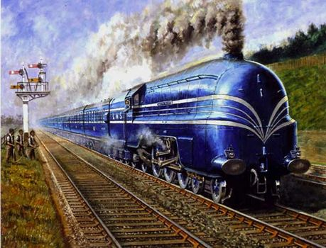 Coronation Scot at Speed